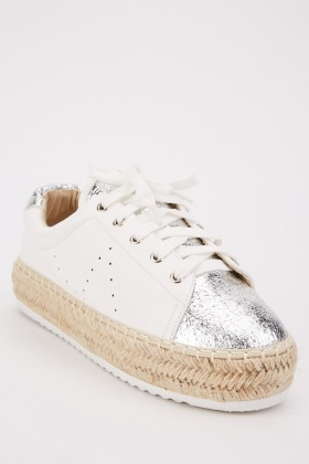 Braided Trim Low Top Trainers
