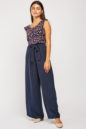 Tie Up Wide Leg Trousers