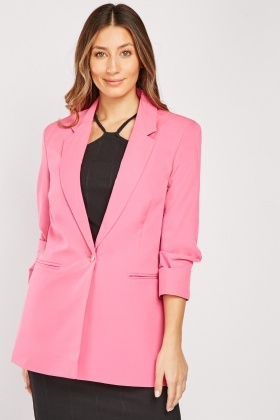 Lapel Collar Long Blazer