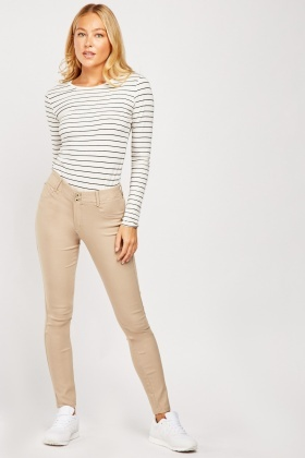 Mid Rise Skinny Trousers