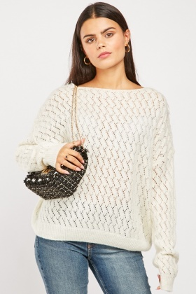 Loose Pattern Knit Sweater
