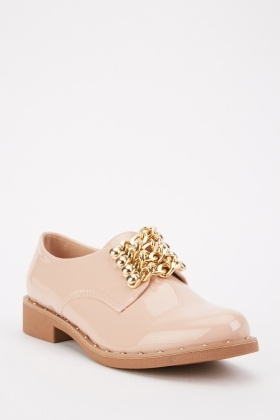 Metallic Chain Dusty Pink Shoes