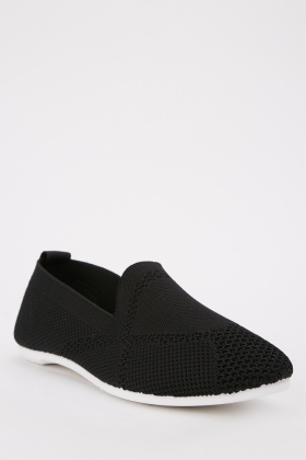 Perforated Slip On Trainers