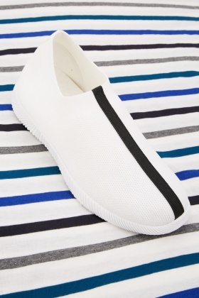 Stripe Front Low Top Trainers