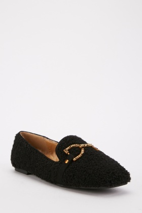 Bobble Textured Loafers