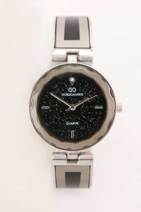 Encursted Face Ladies Dial Watch