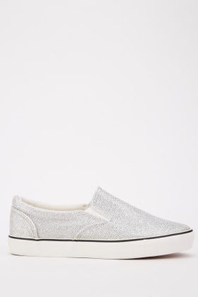 Metallic Low Top Trainers