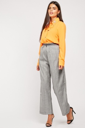 Polka Dot Glen Check Trousers