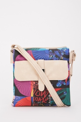 Mix Printed Shoulder Bag