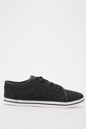 Mens Embroidered Logo Side Trainers