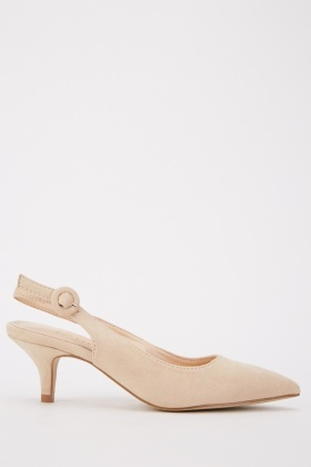 Mid Heel Slingback Court Shoes