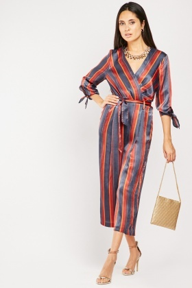 Silky Striped Jumpsuit