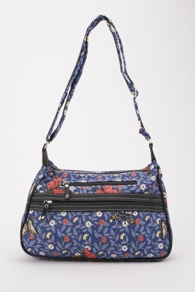 Vintage Print Shoulder Bag