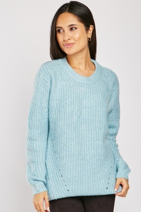 Perforated Pattern Knit Jumper