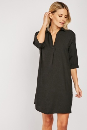Slit Front Tunic Dress
