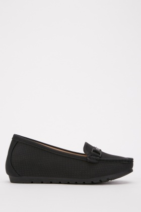 Suedette Contrast Loafers