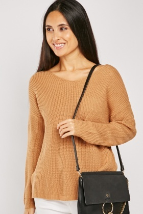 Herringbone Slit Side Jumper