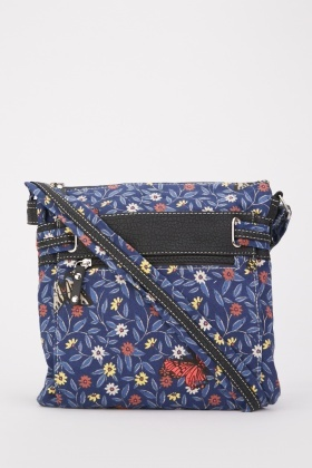 Printed Cross-Body Messenger Bag