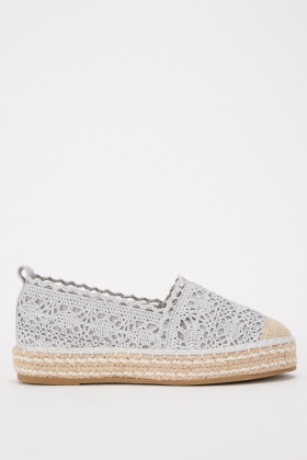 Textured Patterned Espadrilles