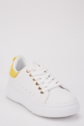 Low Top Mock Croc Trim Trainers
