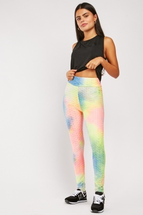 Tie-Dyed Textured Leggings