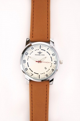 Contrasted Men's Strap Watch
