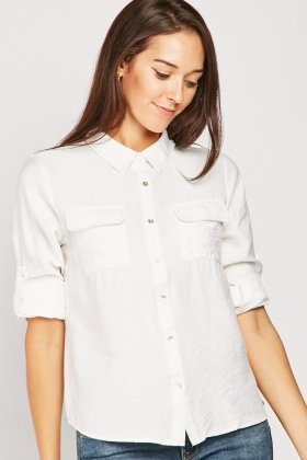 Long Sleeve Top Stitched Shirt