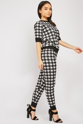 Checkered Pattern Jogging Bottoms