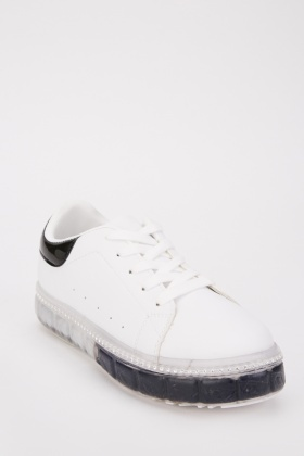 Contrasted Diamante Trim Trainers