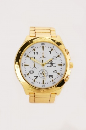 Gold Men's Analogue Watch