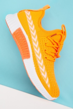 Textured Arrow Panel Trainers