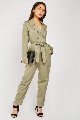 Double Breasted Olive Jumpsuit $6.70