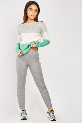 Grey Speckled Thick Leggings $6.70