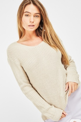 Twisted Back Knit Jumper $6.70