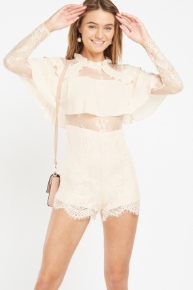 Chantilly Lace Ruffle Playsuit