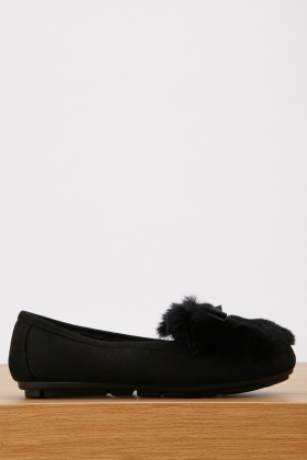 Fur Trim Loafers