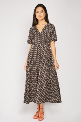 Printed Midi Tea Dress