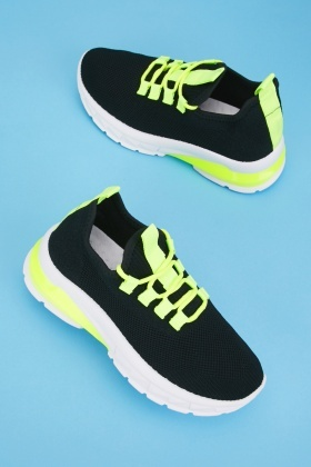 Contrasted Knitted Trainers