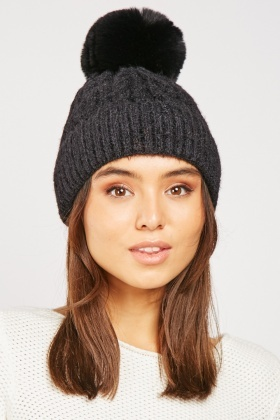 Fluffy Chenille Knit Hat