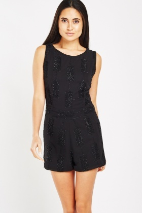 Sequin Embroidered Chiffon Playsuit