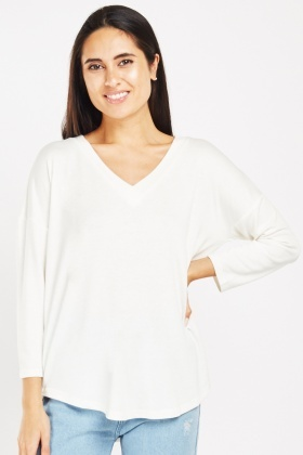 V-Neck Casual Jersey Top