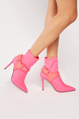Clip Strap Detail Ankle Boots