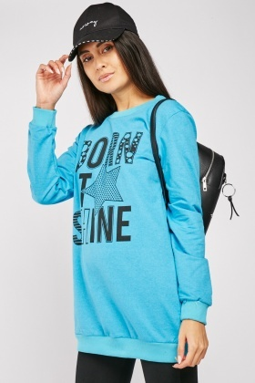 Printed Front Casual Sweatshirt