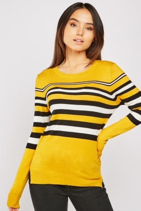 Multi Striped Knit Top