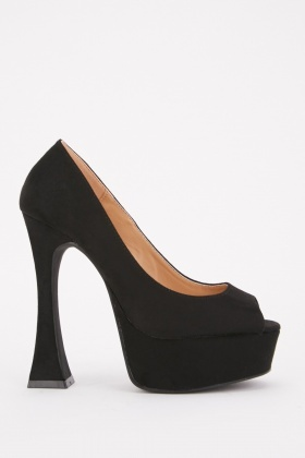 Peep Toe High Block Heels