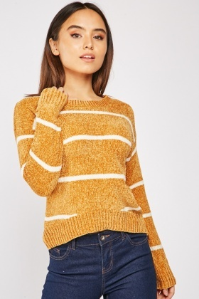 Striped Chenille Knit Jumper