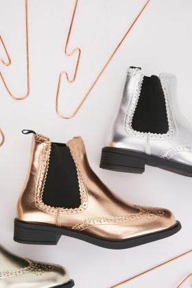 Metallic Ankle Boots $6.90