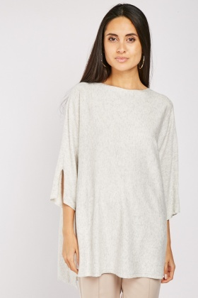 Slouchy Ovesized Ribbed Top