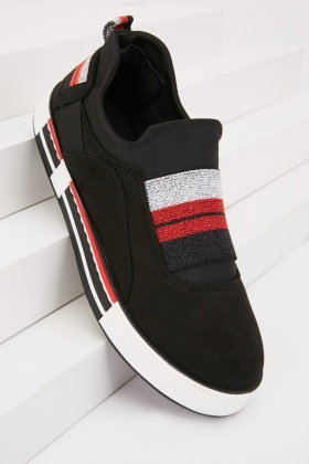 Elasticated Strap Low Top Trainers