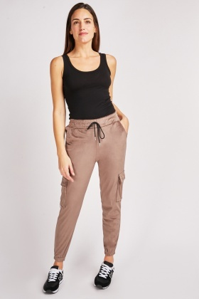 Striped Side Velveteen Joggers